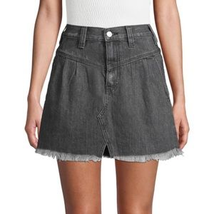 Free People Mini Denim Skirt